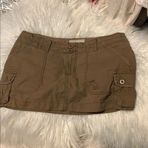 Abercrombie & Fitch cargo like khaki tan skirt 4